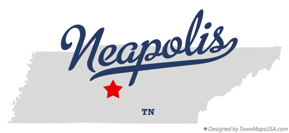 Map of Neapolis Tennessee TN