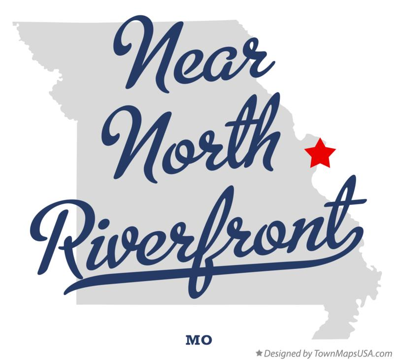 Map of Near North Riverfront Missouri MO