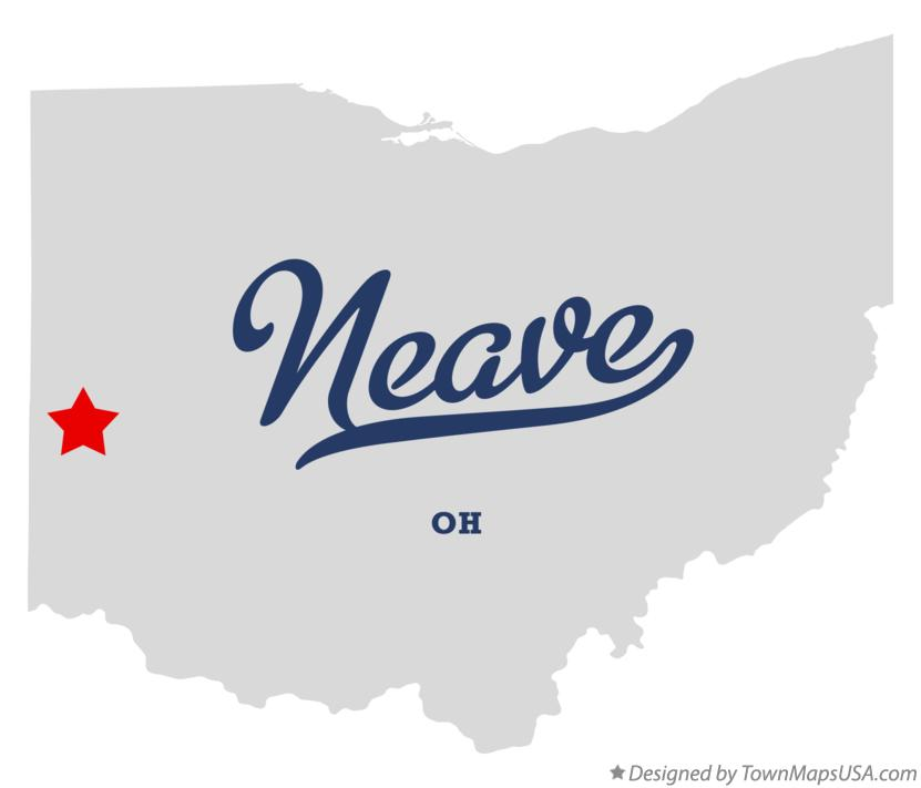 Map of Neave Ohio OH