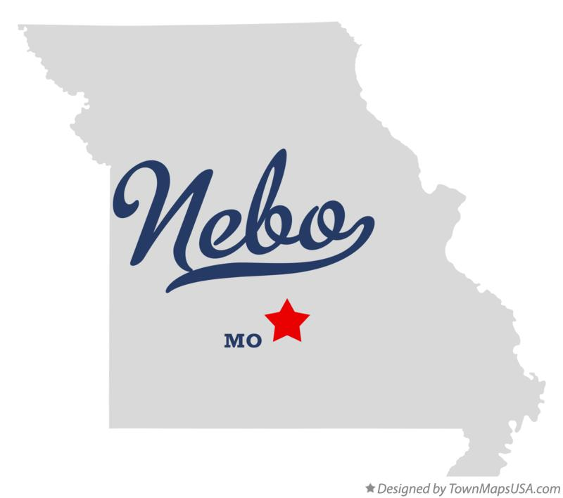 Map of Nebo Missouri MO