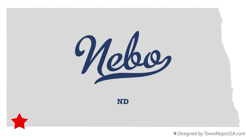 Map of Nebo North Dakota ND
