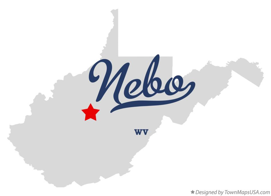 Map of Nebo West Virginia WV
