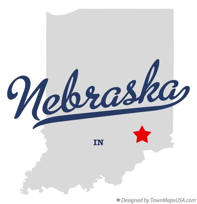 Map of Nebraska Indiana IN