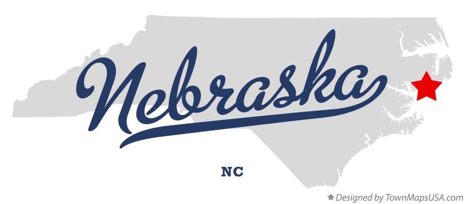Map of Nebraska North Carolina NC