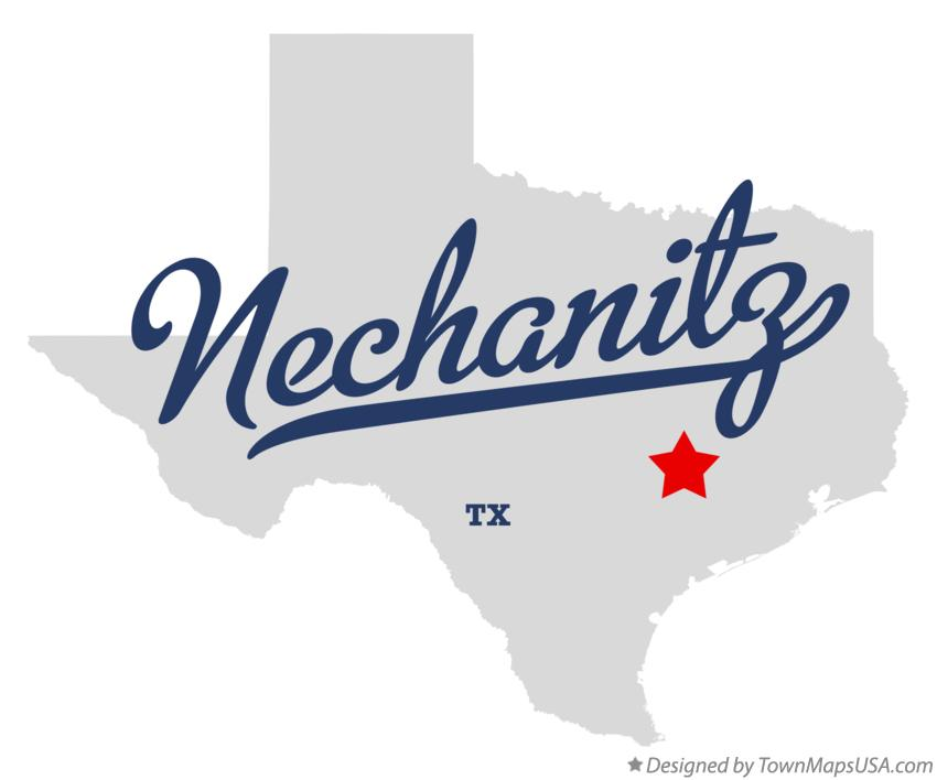 Map of Nechanitz Texas TX