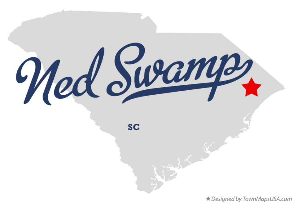 Map of Ned Swamp South Carolina SC