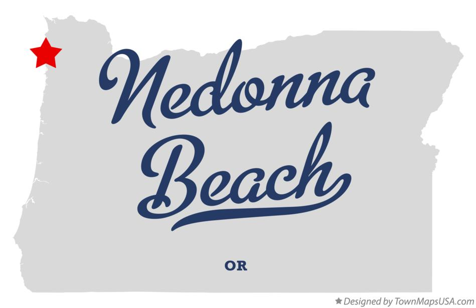 Map of Nedonna Beach Oregon OR