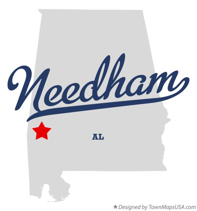 Map of Needham Alabama AL