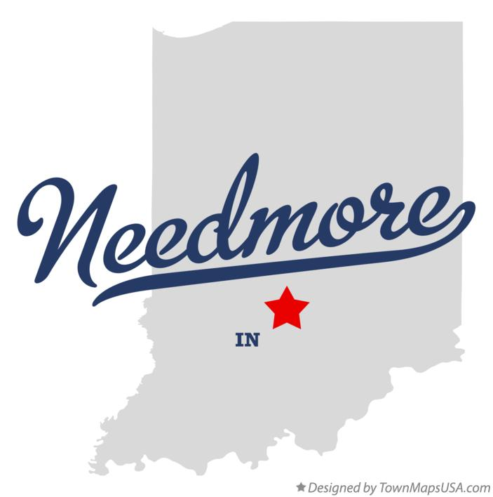 Map of Needmore Indiana IN