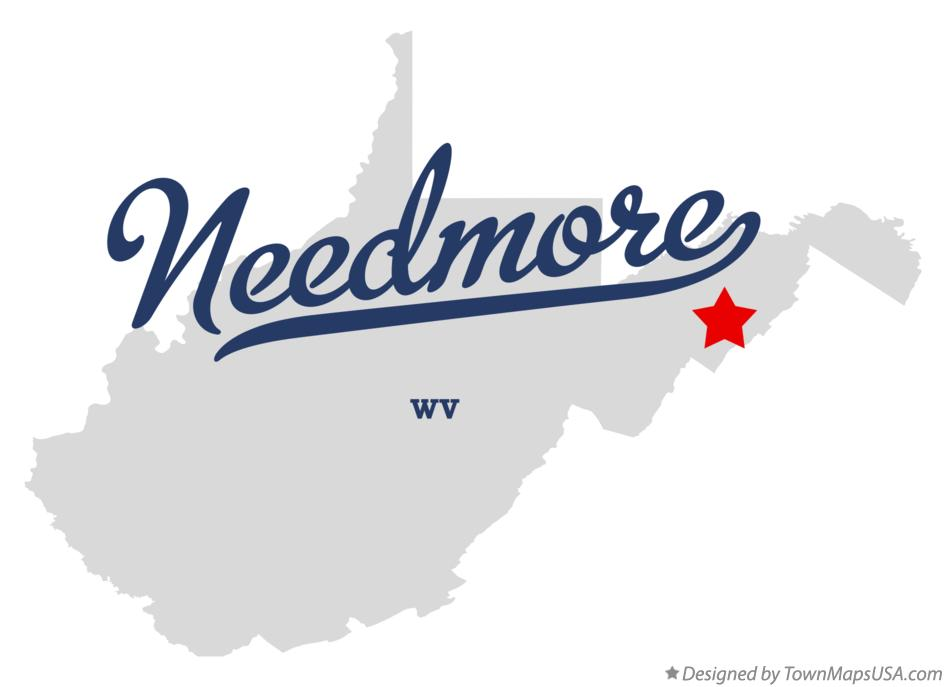Map of Needmore West Virginia WV