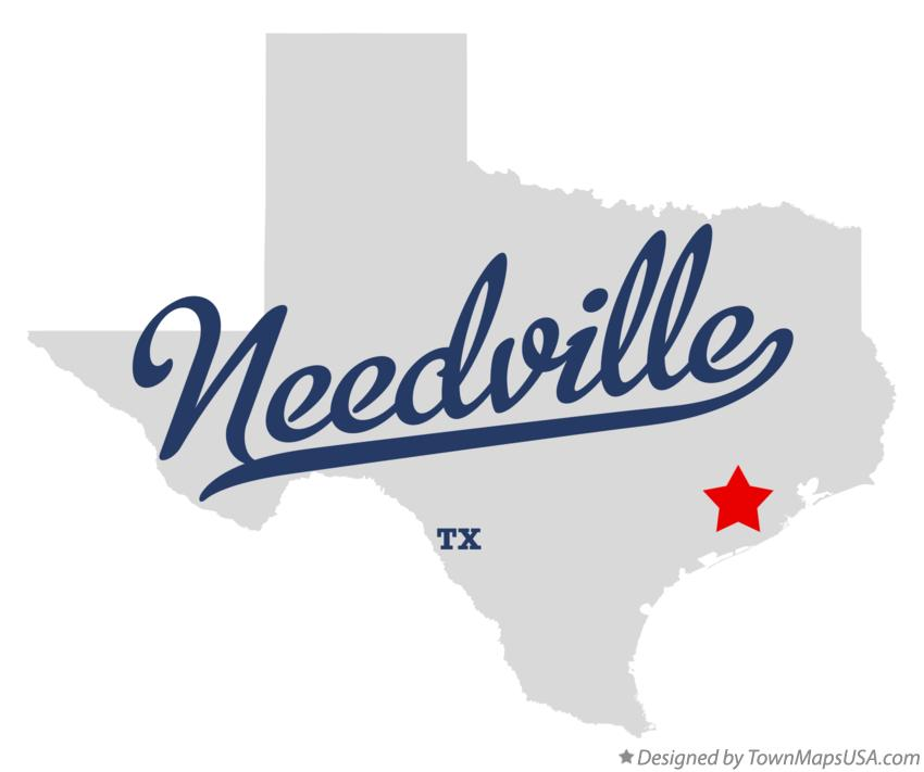 Map of Needville Texas TX