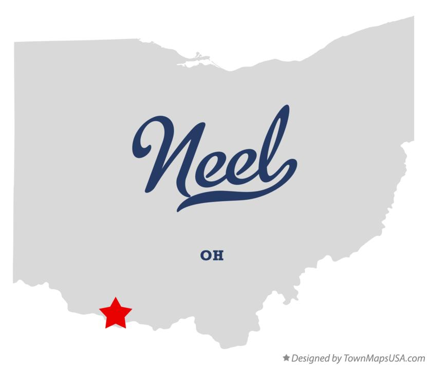Map of Neel Ohio OH