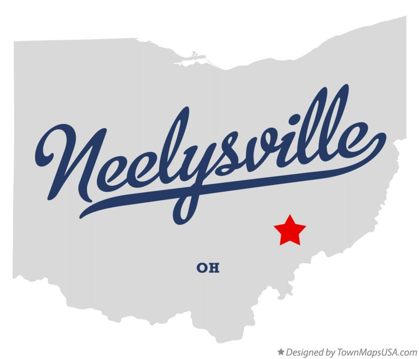 Map of Neelysville Ohio OH
