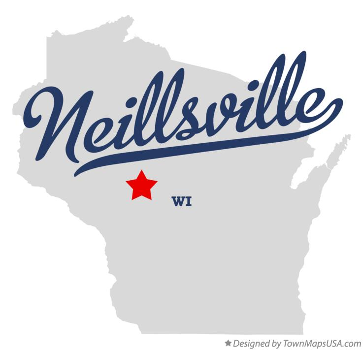 Map of Neillsville Wisconsin WI