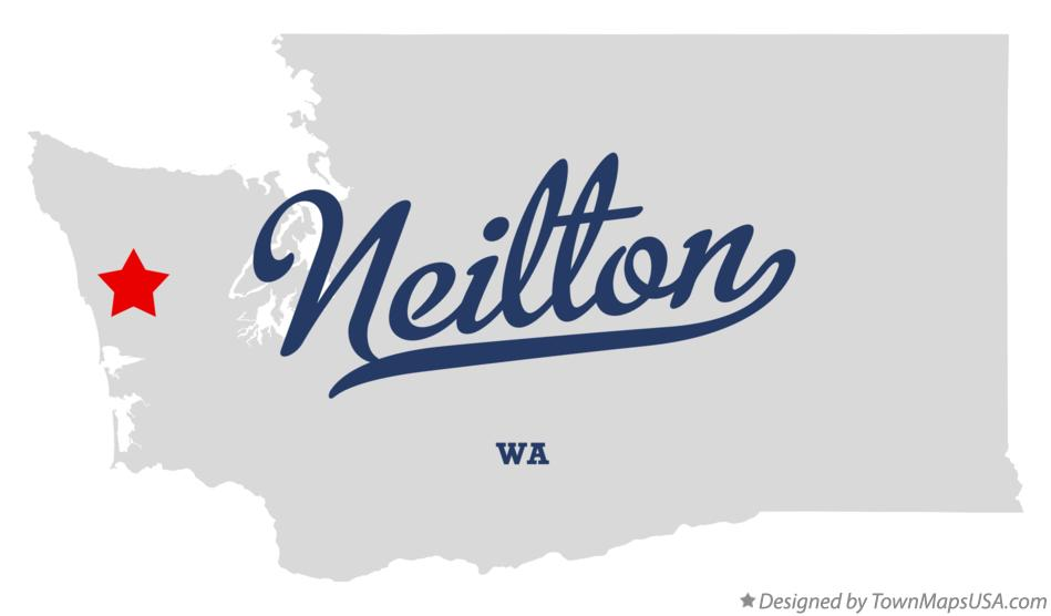 Map of Neilton Washington WA