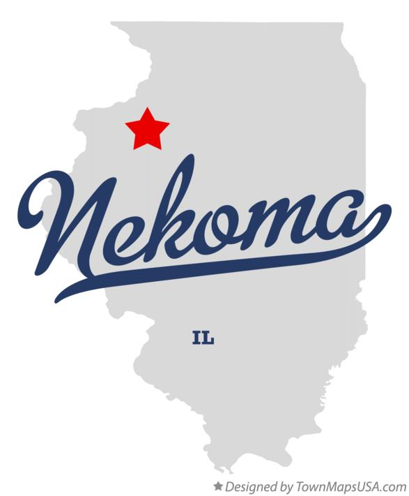 Map of Nekoma Illinois IL