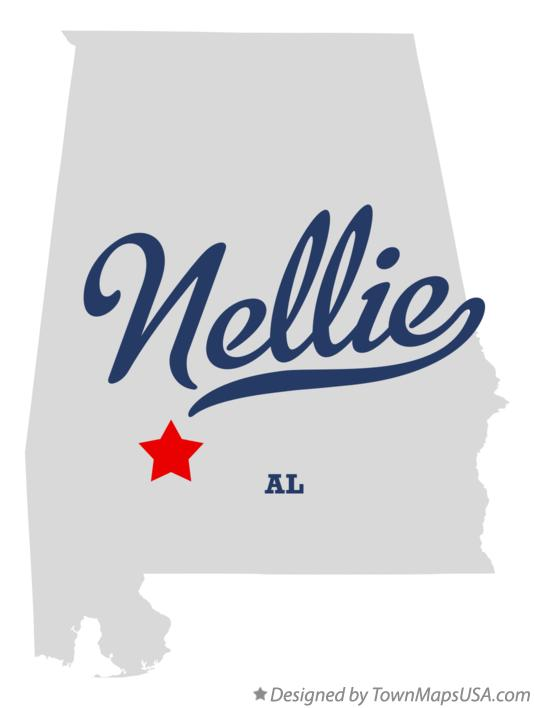 Map of Nellie Alabama AL