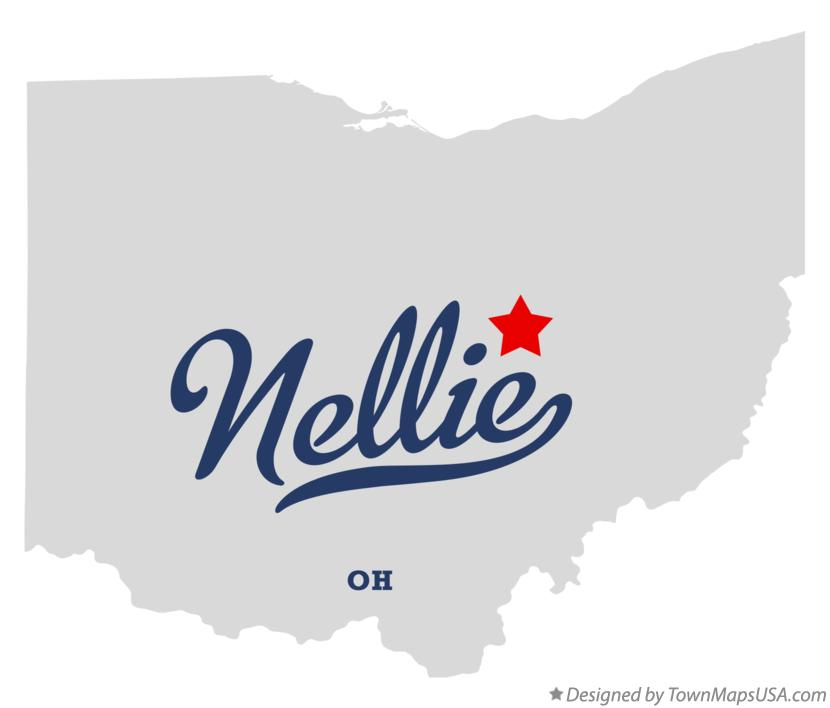 Map of Nellie Ohio OH