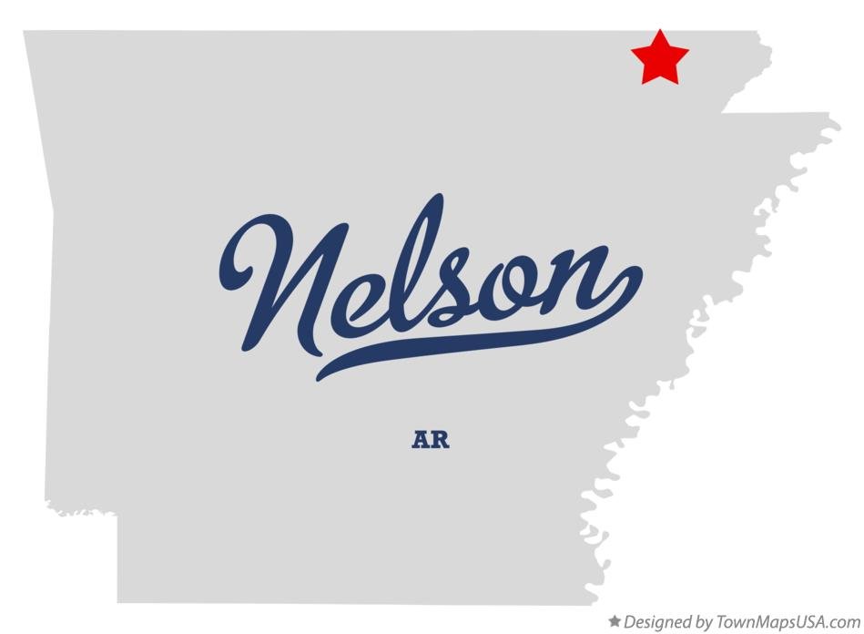 Map of Nelson Arkansas AR