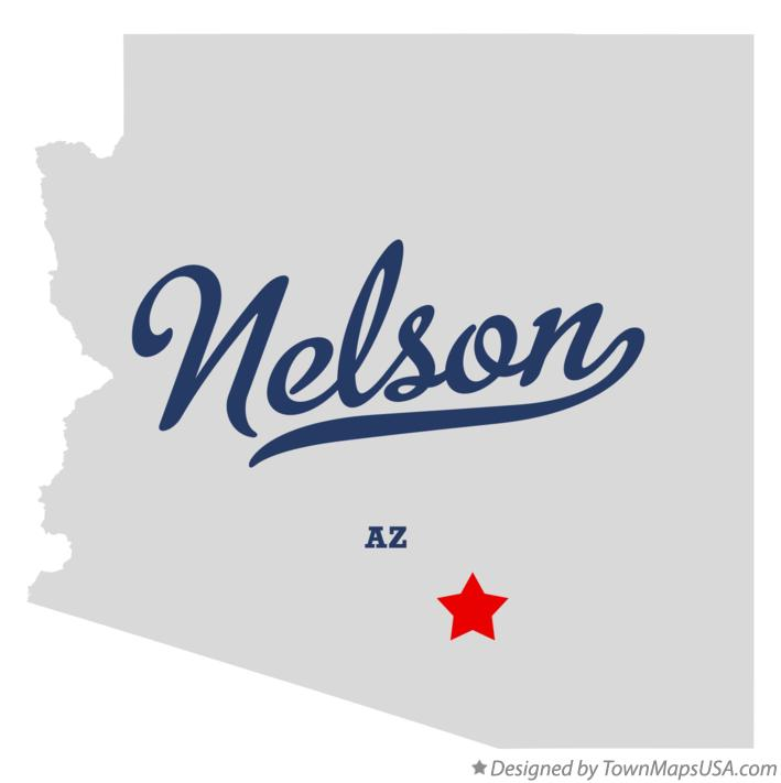 Map of Nelson Arizona AZ