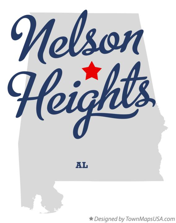 Map of Nelson Heights Alabama AL
