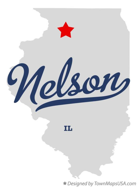 Map of Nelson Illinois IL