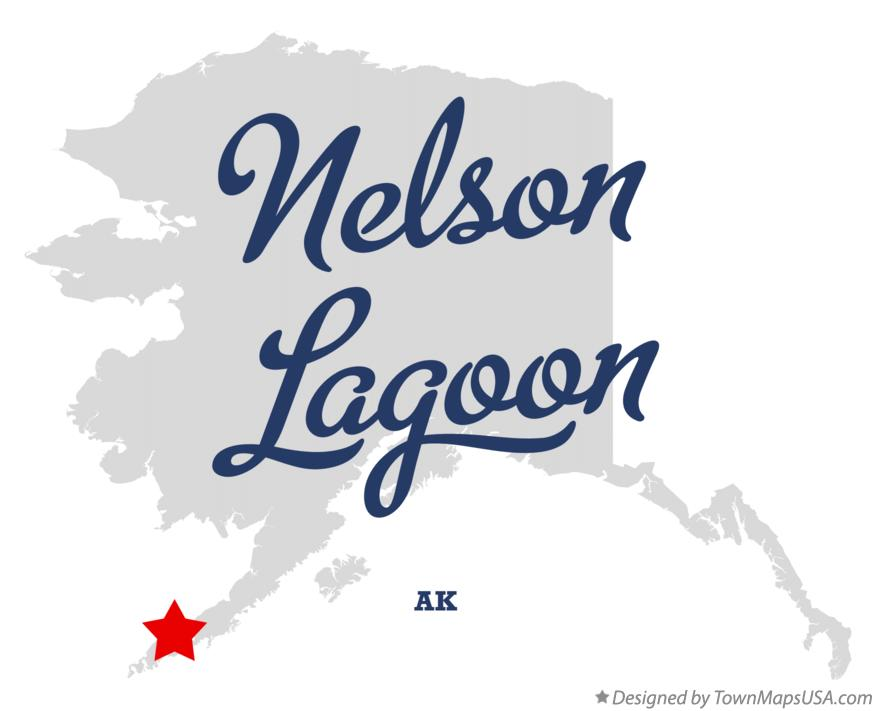 Map of Nelson Lagoon Alaska AK