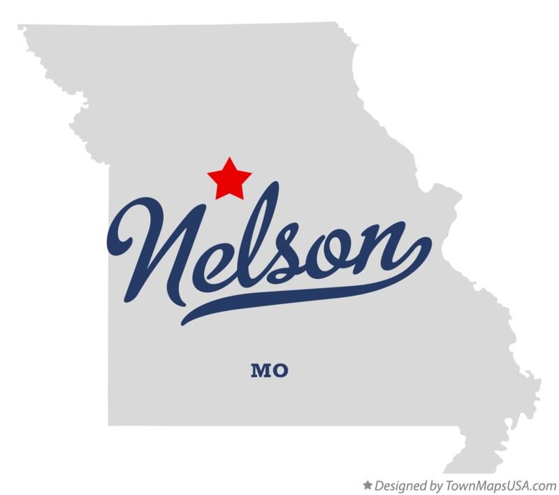 Map of Nelson Missouri MO