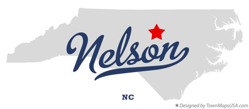 Map of Nelson North Carolina NC