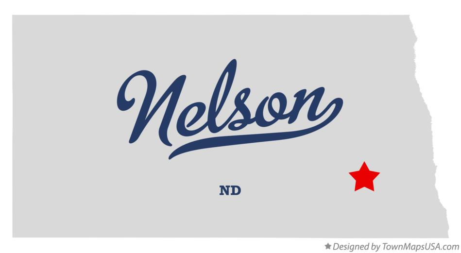 Map of Nelson North Dakota ND