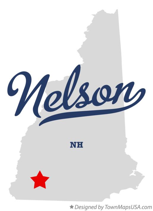 Map of Nelson New Hampshire NH