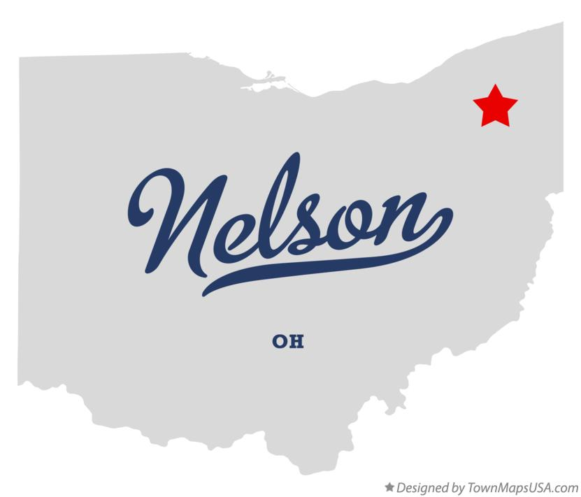 Map of Nelson Ohio OH