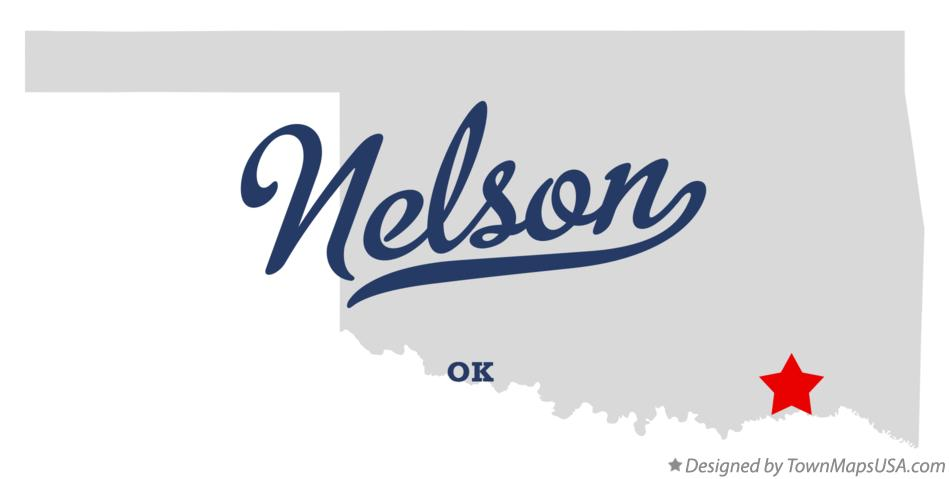 Map of Nelson Oklahoma OK