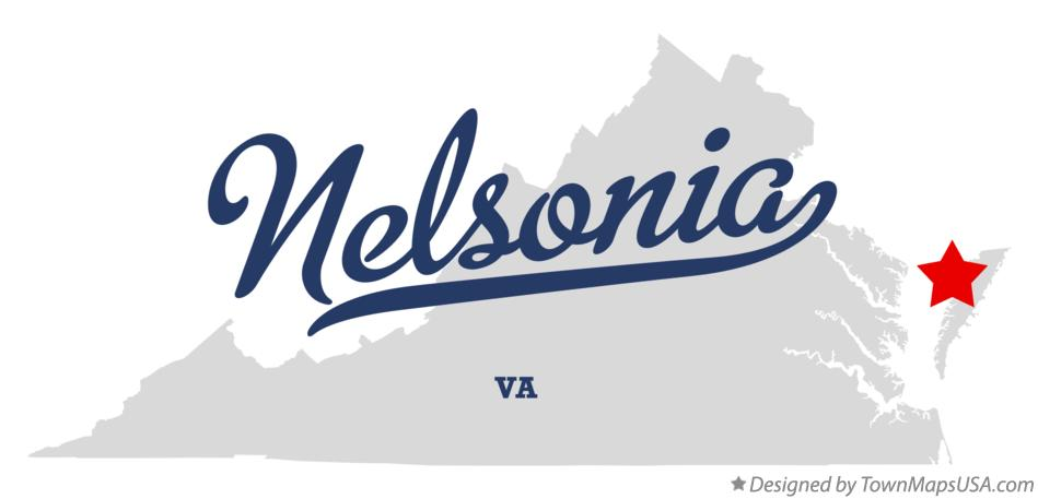 Map of Nelsonia Virginia VA