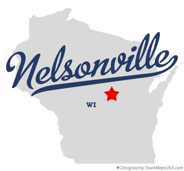 Map of Nelsonville Wisconsin WI