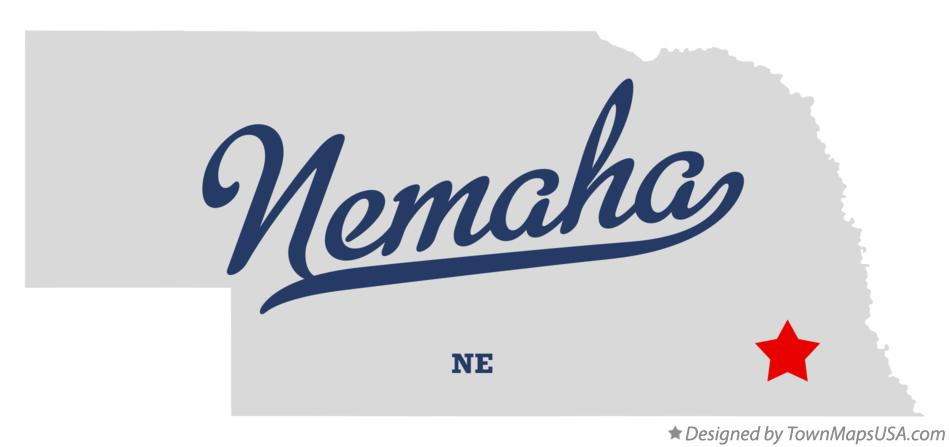 Map of Nemaha Nebraska NE