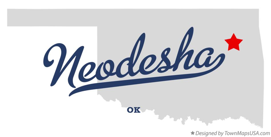 Map of Neodesha Oklahoma OK