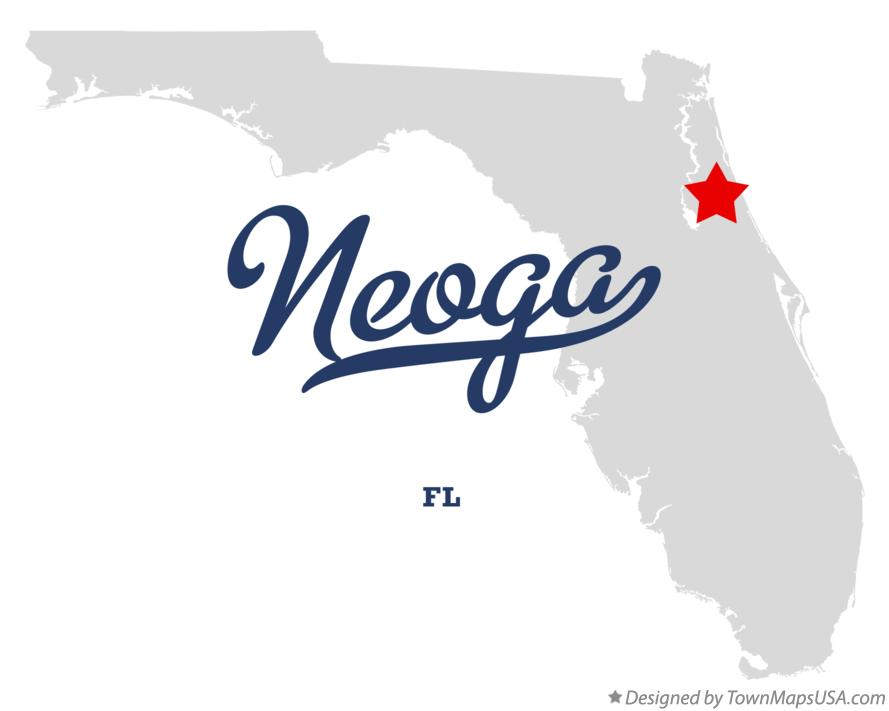 Map of Neoga Florida FL