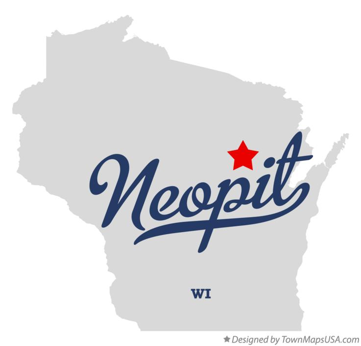 Map of Neopit Wisconsin WI