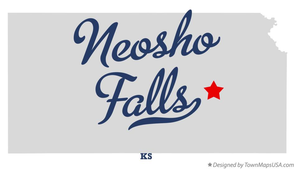 Map of Neosho Falls Kansas KS