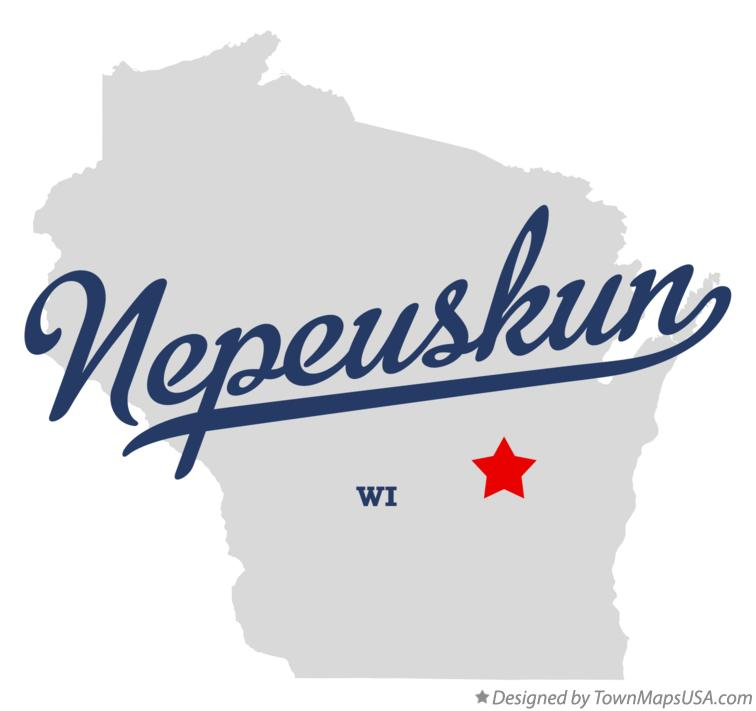 Map of Nepeuskun Wisconsin WI