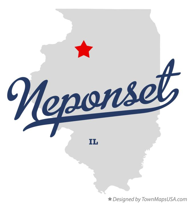 Map of Neponset Illinois IL