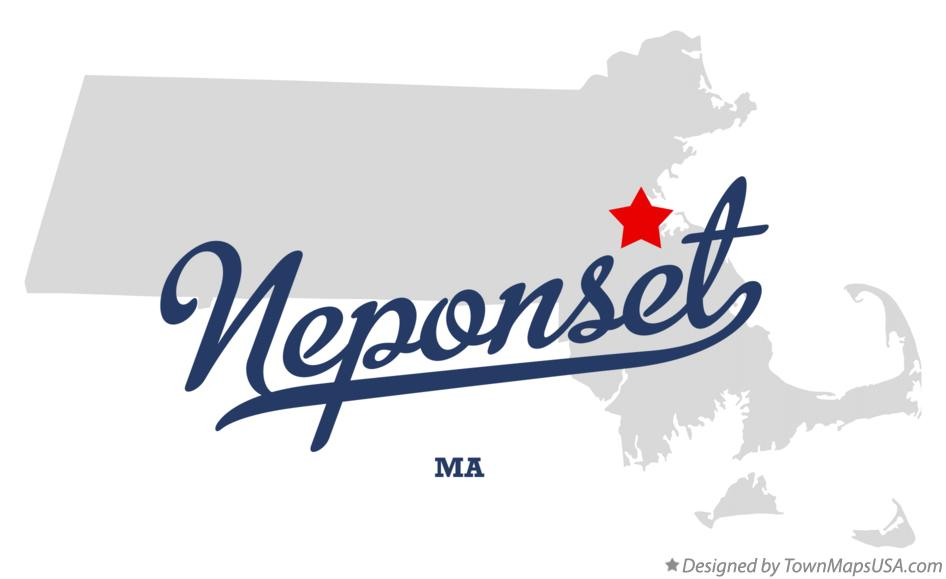 Map of Neponset Massachusetts MA