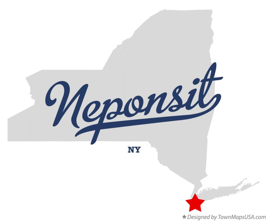 Map of Neponsit New York NY