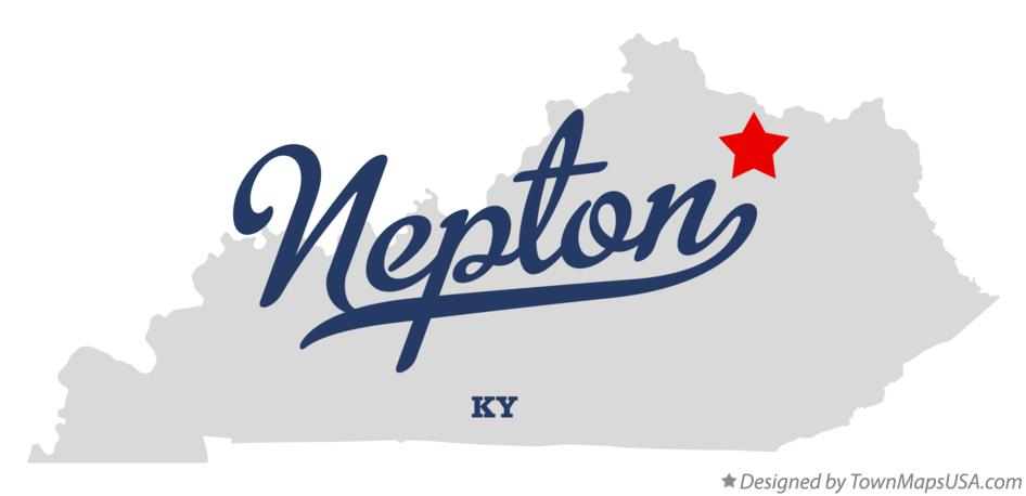Map of Nepton Kentucky KY