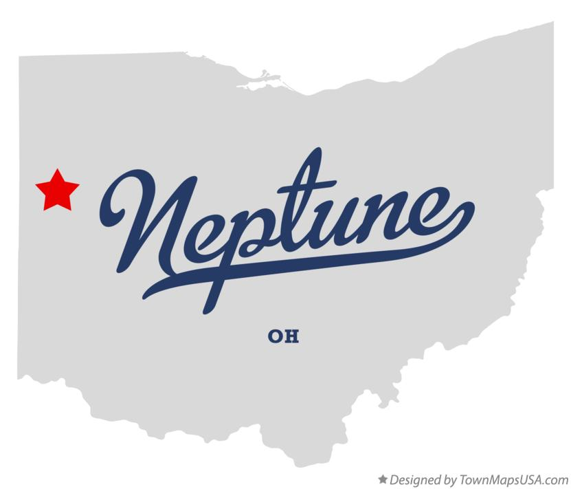 Map of Neptune Ohio OH