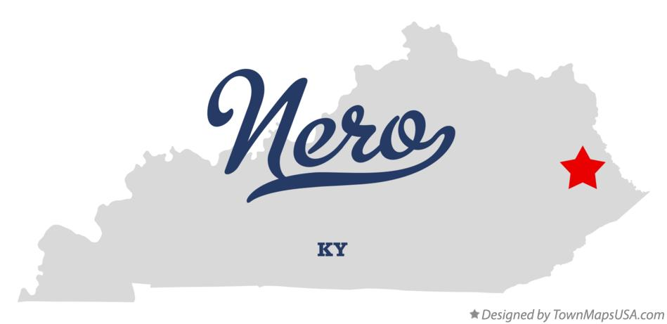 Map of Nero Kentucky KY