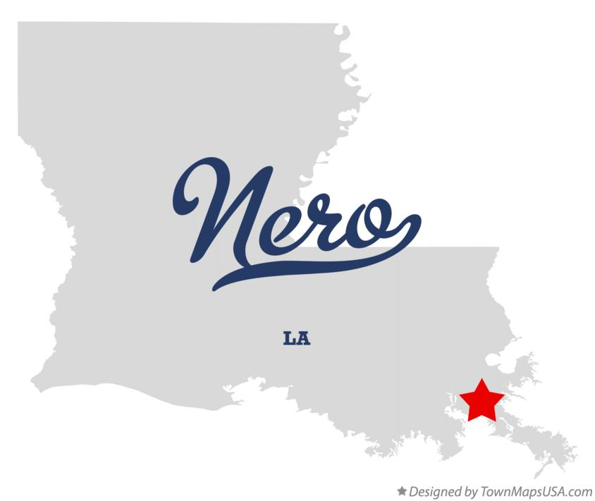 Map of Nero Louisiana LA