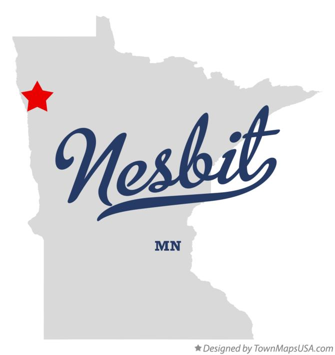Map of Nesbit Minnesota MN
