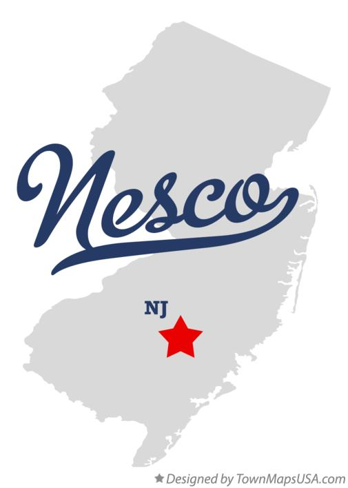 Map of Nesco New Jersey NJ